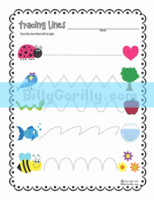 Trace the Lines Worksheets for Preschoolers New Friday Freebie – Tracing Lines Worksheet Printable