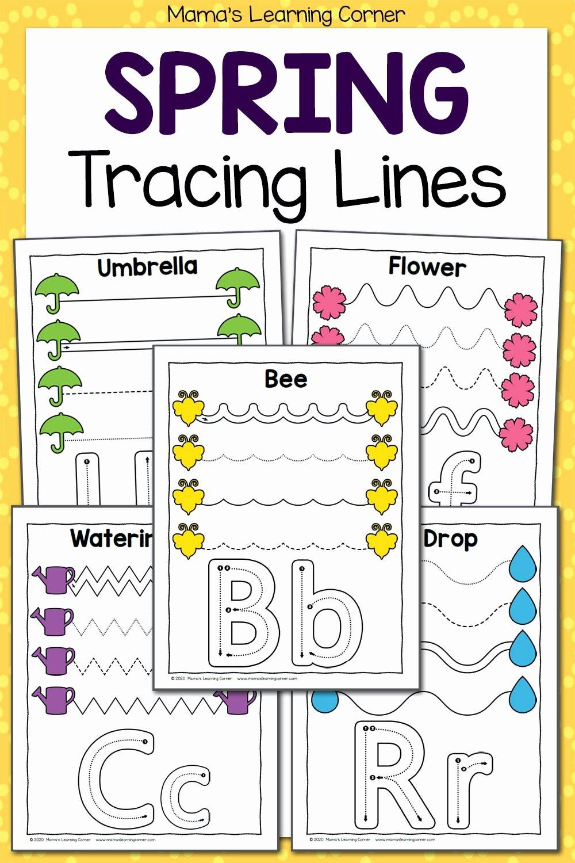 Trace the Lines Worksheets for Preschoolers New Spring Tracing Worksheets for Preschool Mamas Learning Corner