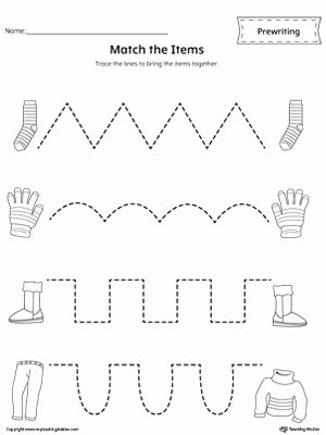 Trace the Lines Worksheets for Preschoolers top Pre Writing Line Tracing Workbook