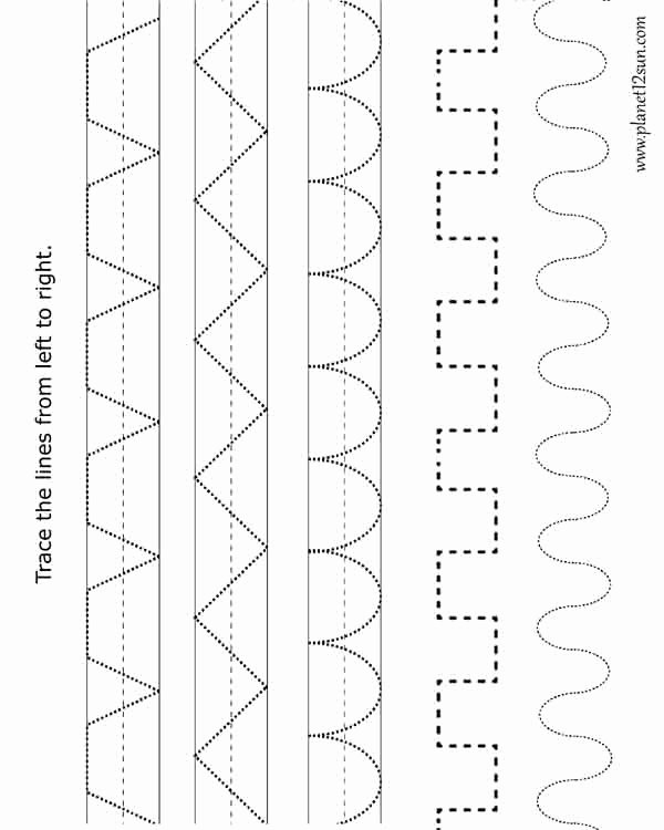 Trace the Lines Worksheets for Preschoolers top Worksheets Free Printable Tracing Worksheets Math Teacher