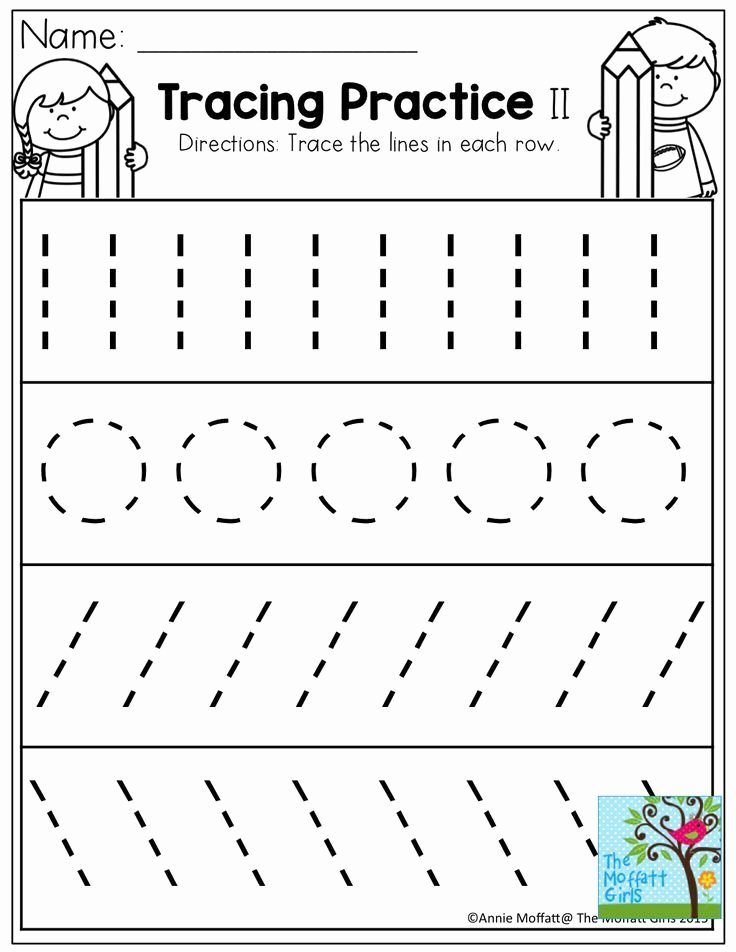 Trace Worksheets for Preschoolers New Tracing Practice tons Of Printable for Pre K Kindergarten
