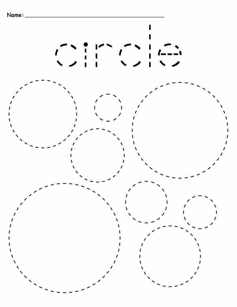 Traceable Shapes Worksheets for Preschoolers Awesome Preschool Tracing Worksheets Best Coloring Pages for Kids