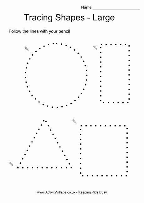 Traceable Shapes Worksheets for Preschoolers Awesome Tracing Shapes