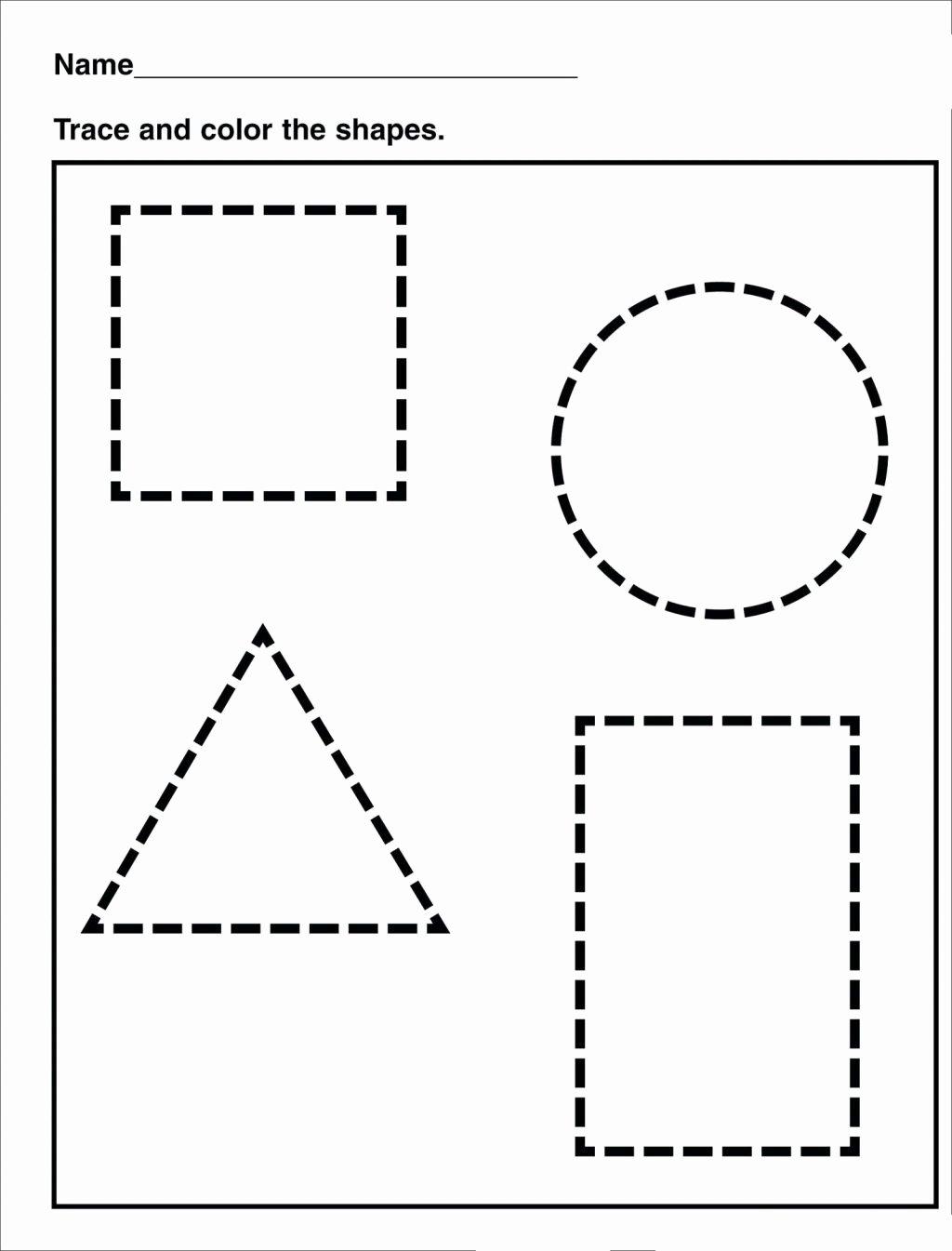 Traceable Shapes Worksheets for Preschoolers Beautiful Worksheet Tracing Shapes Worksheetsor Preschoolers