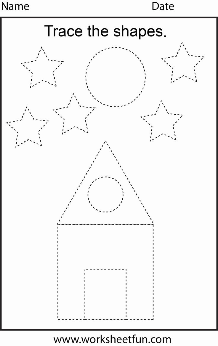 Traceable Shapes Worksheets for Preschoolers top Worksheet Shape Tracing Worksheets for Print Worksheet