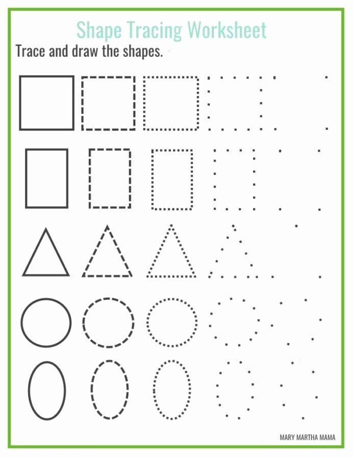 Traceable Shapes Worksheets for Preschoolers Unique Shapes Worksheets for Preschool Free Printables Shape