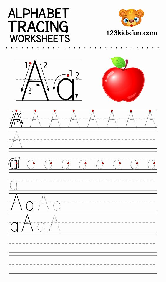 Tracing Letter Worksheets for Preschoolers Awesome Alphabet Tracing Worksheets A Z Free Printable for Kids