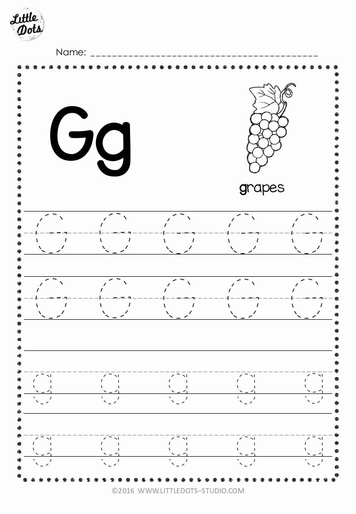 Tracing Letter Worksheets for Preschoolers Awesome Free Letter G Tracing Worksheets