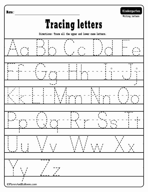 Tracing Letter Worksheets for Preschoolers Beautiful Alphabet Tracing Worksheets A Z Free Printable Bundle