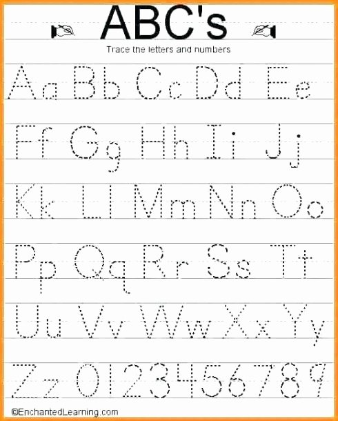 Tracing Letter Worksheets for Preschoolers Fresh Lowercase Tracing Worksheet Kindergarten Alphabet Worksheets
