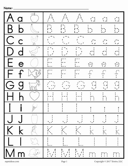 Tracing Letter Worksheets for Preschoolers top Uppercase and Lowercase Letter Tracing Worksheets