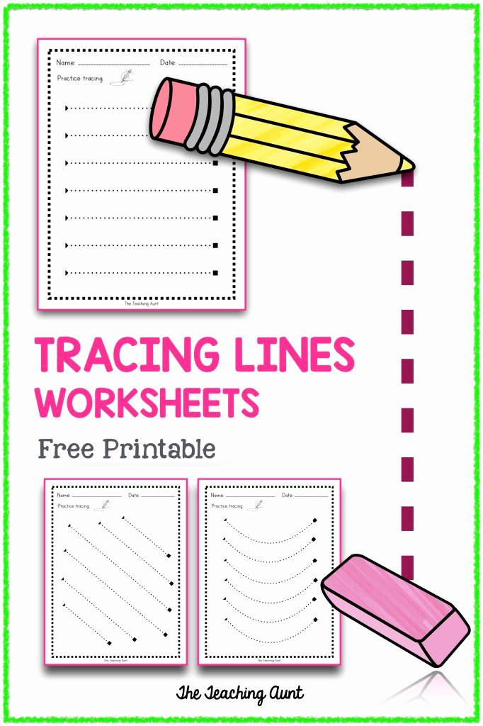Tracing Lines Worksheets for Preschoolers Fresh Tracing Lines Worksheets the Teaching Aunt