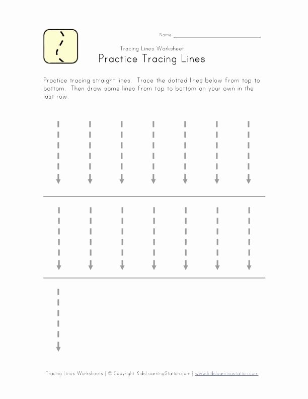 Tracing Lines Worksheets for Preschoolers Inspirational Trace Lines Down Worksheet