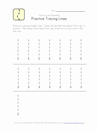 Tracing Lines Worksheets for Preschoolers Unique Trace Lines Down Worksheet
