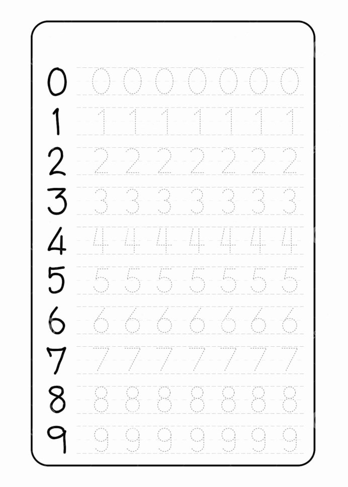 Tracing Numbers Worksheets for Preschoolers Beautiful Preschool Number Tracing Worksheets Pdf E Survey