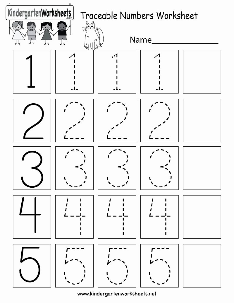 Tracing Numbers Worksheets for Preschoolers Inspirational Number Tracing Worksheets for Preschoolers In 2020