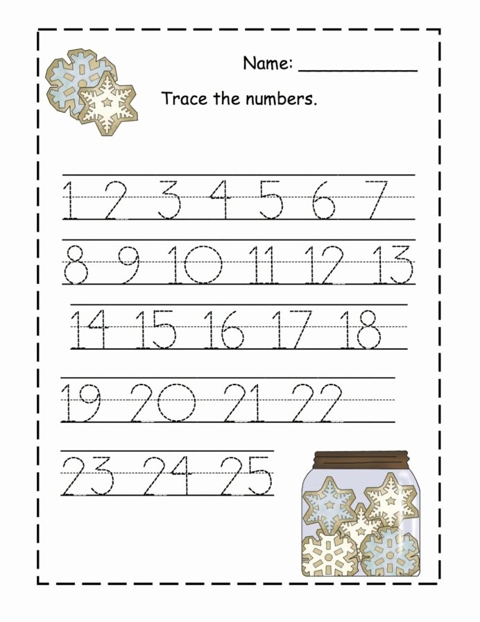 Tracing Numbers Worksheets for Preschoolers New Trace Numbers Activity Shelter Preschool Number Tracing