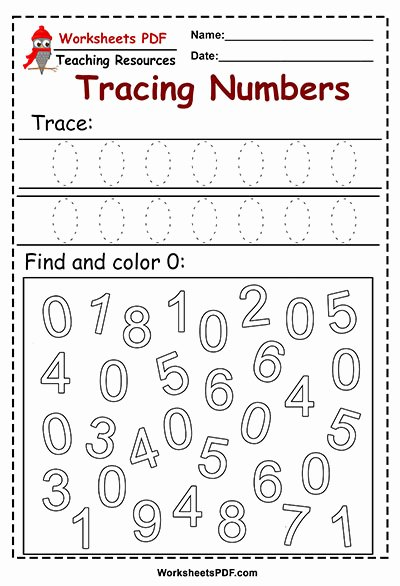 Tracing Numbers Worksheets for Preschoolers New Tracing and Color Numbers Preschool Worksheets