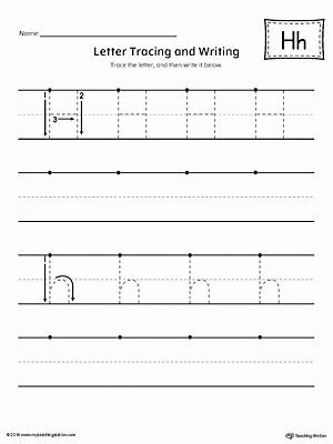 Tracing the Letter H Worksheets for Preschoolers Awesome Letter H Tracing and Writing Printable Worksheet
