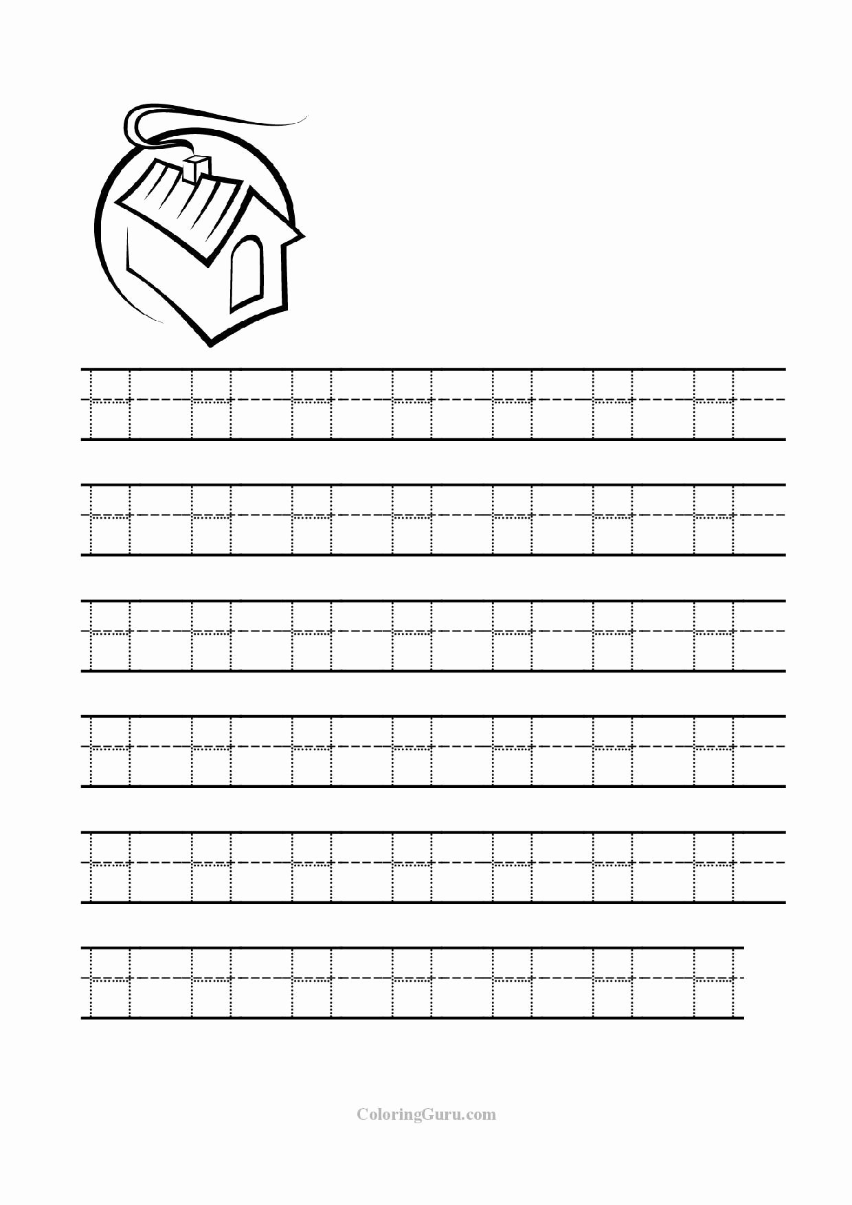 Tracing the Letter H Worksheets for Preschoolers Fresh Guruparents Letter H Worksheets