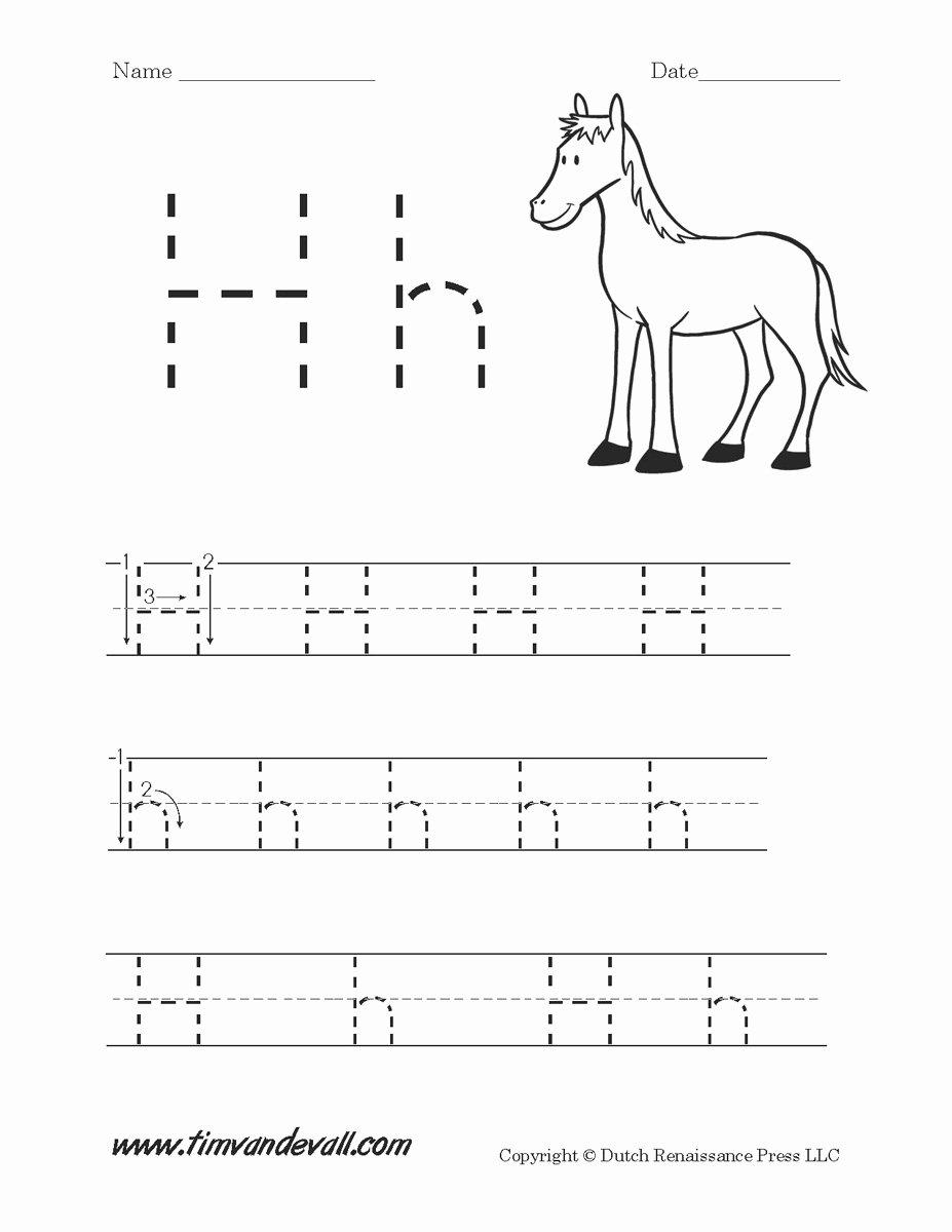 Tracing the Letter H Worksheets for Preschoolers Inspirational Letter H Worksheets