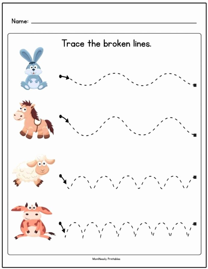 Tracing Worksheets for Preschoolers Beautiful Line Tracing Worksheets for toddlers Worksheets