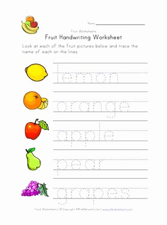 Tracing Your Name Worksheets for Preschoolers Beautiful Coloring Pages Tracing Your Name Worksheets Fruit Writing