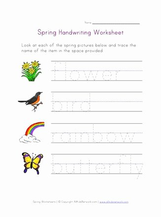 Tracing Your Name Worksheets for Preschoolers Unique Coloring Pages Spring Handwritin All Kids Network
