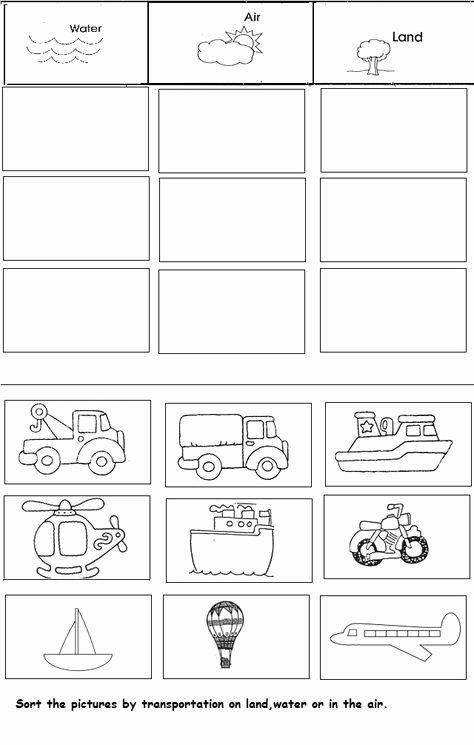 Transport Worksheets for Preschoolers Best Of Transportation Unit Worksheet for Kindergarten