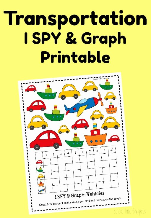 Transportation Worksheets for Preschoolers Awesome Count & Graph Transportation Activity