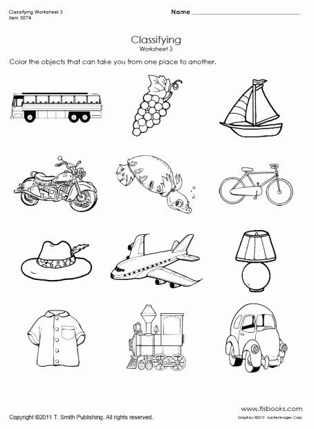 Transportation Worksheets for Preschoolers Beautiful Transportation Classifying Worksheet 3