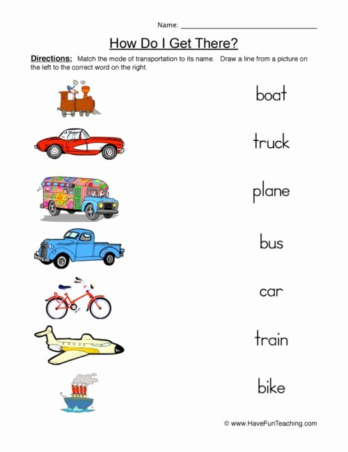 Transportation Worksheets for Preschoolers Beautiful Transportation Worksheets • Have Fun Teaching