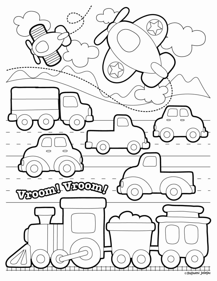 Transportation Worksheets for Preschoolers Beautiful Worksheets Transportation Coloring for Preschool Tracer