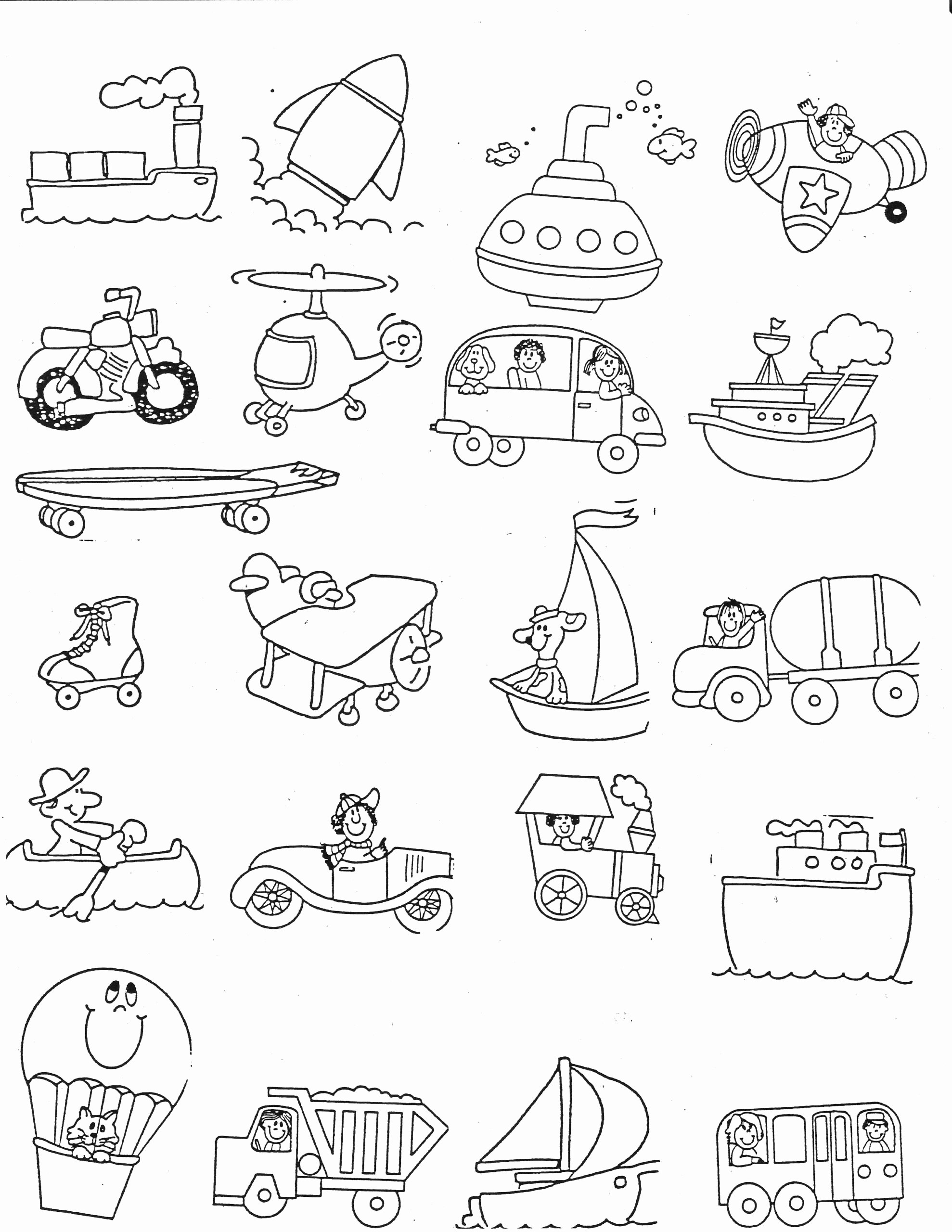 Transportation Worksheets for Preschoolers Lovely Worksheets Transportation Kindergarten Nana Half Worksheet