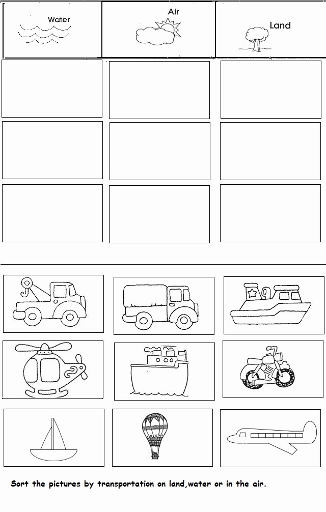 Transportation Worksheets for Preschoolers top Transportation Unit Worksheet for Kindergarten