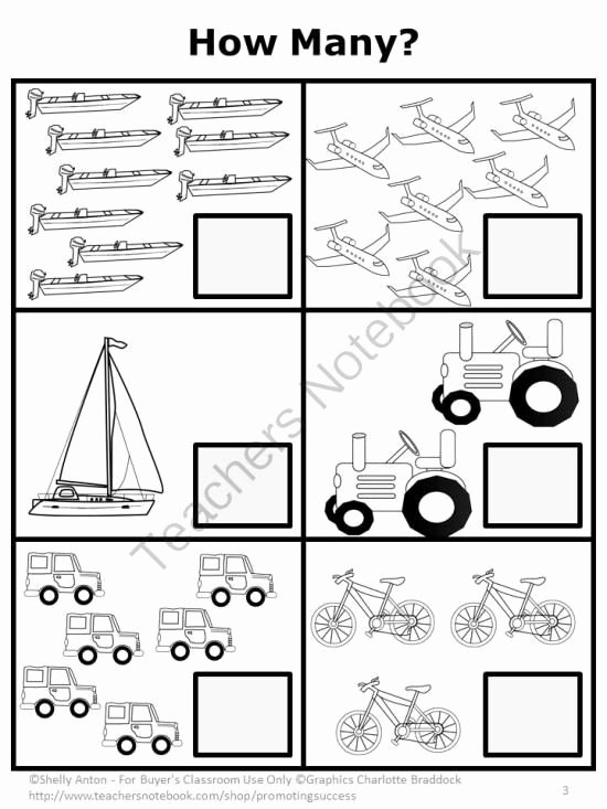 Transportation Worksheets for Preschoolers Unique Teachers Notebook
