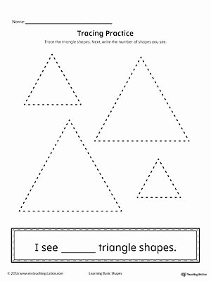 Triangle Printable Worksheets for Preschoolers Awesome Geometric Shape Counting and Tracing Triangle