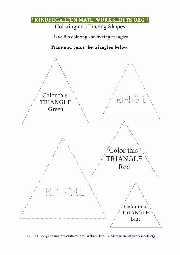Triangle Printable Worksheets for Preschoolers Beautiful Kindergarten Coloring Worksheets Tag