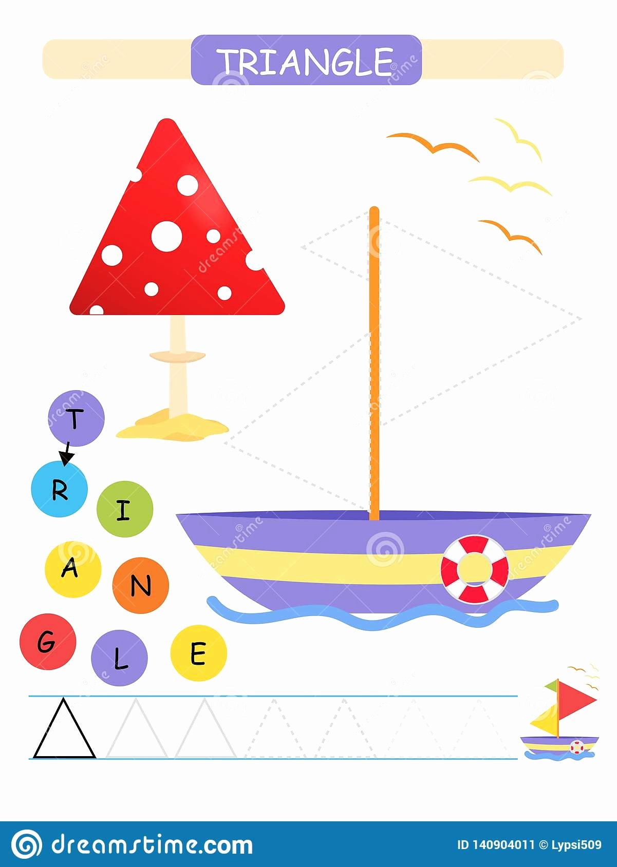 Triangle Printable Worksheets for Preschoolers Fresh Learn Shapes and Geometric Figures for Preschool and