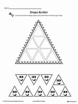 Triangle Printable Worksheets for Preschoolers top Geometric Shape Builder Worksheet Triangle
