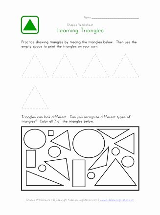 Triangle Printable Worksheets for Preschoolers top Triangle Worksheet