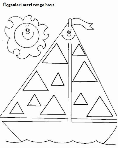 Triangle Worksheets for Preschoolers Awesome Coloring Pages