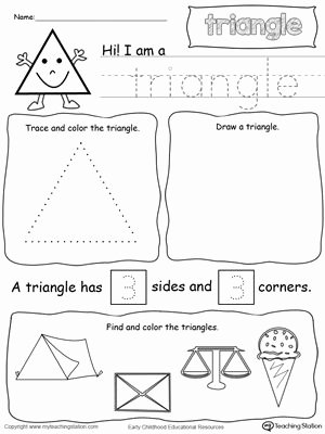 Triangle Worksheets for Preschoolers Beautiful All About Triangle Shapes