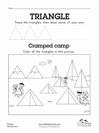 Triangle Worksheets for Preschoolers Best Of Triangle Worksheet