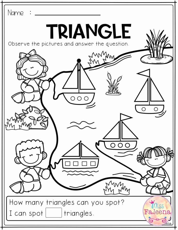 Triangle Worksheets for Preschoolers top Free Kindergarten Math Practice Triangle Worksheets