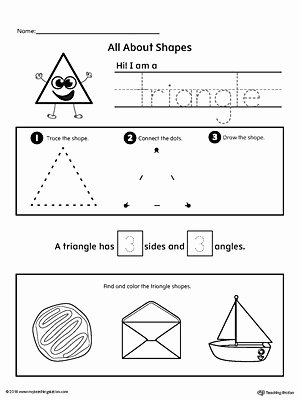 Triangle Worksheets for Preschoolers Unique All About Triangle Shapes