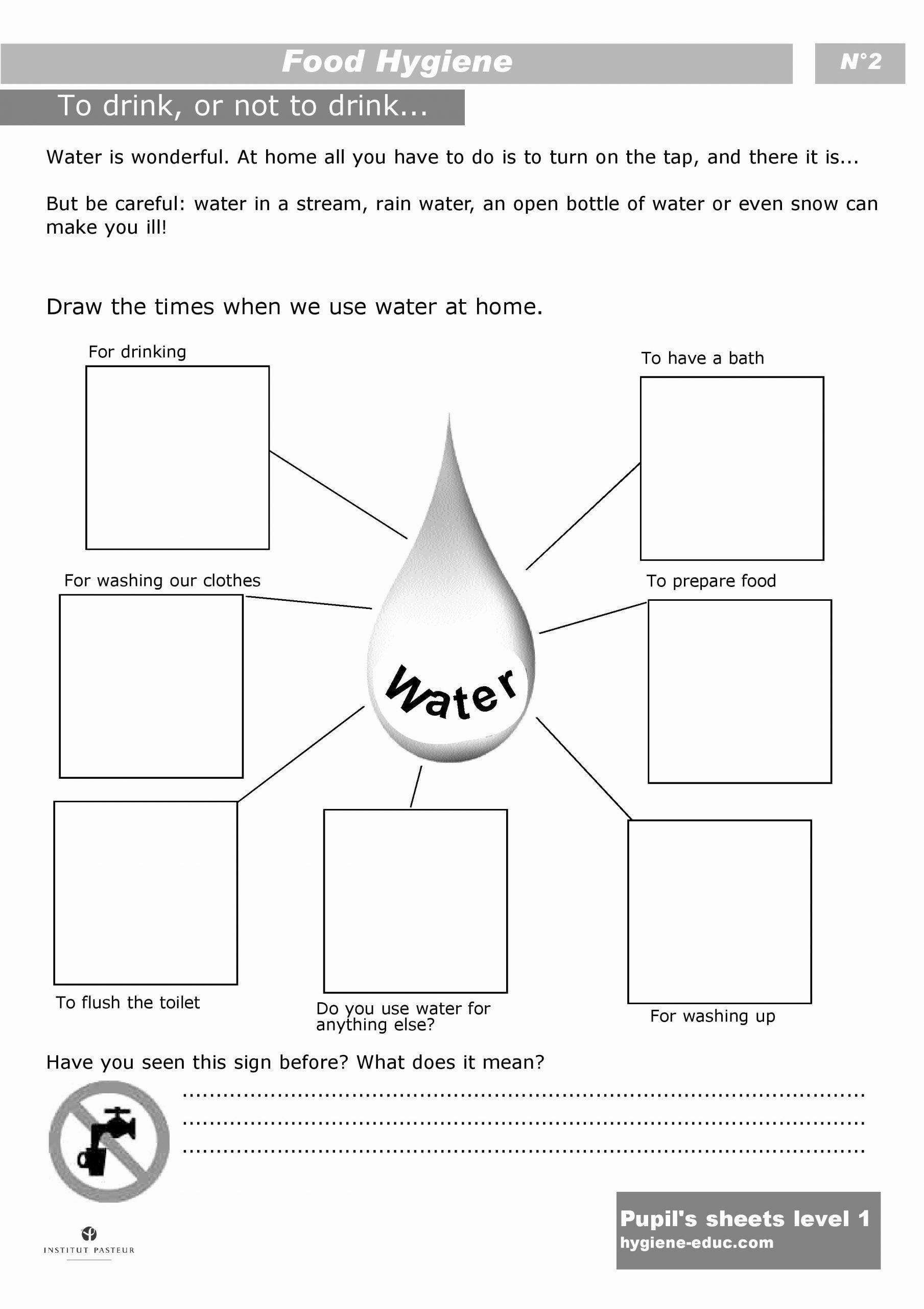 Uses Of Water Worksheets for Preschoolers top Health Food Pyramid Printable Worksheet