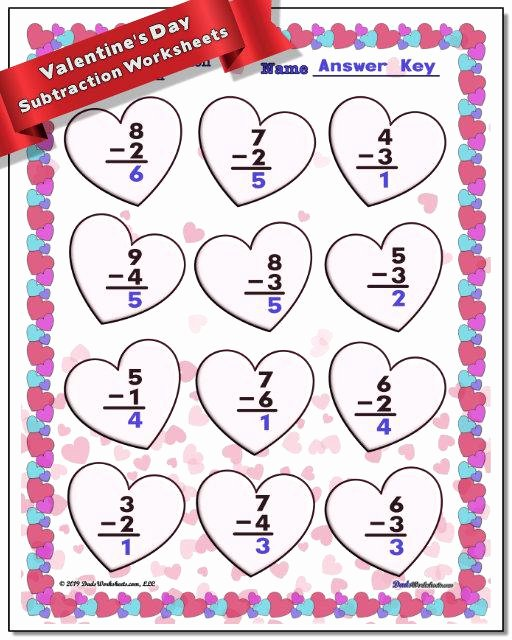 Valentine Day Math Worksheets for Preschoolers Awesome Valentine S Day Worksheets to Make Math Fun