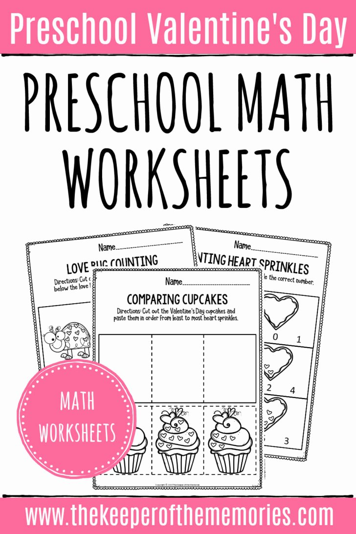 Valentine Day Math Worksheets for Preschoolers Awesome Worksheet Printable Valentines Day Math Worksheets
