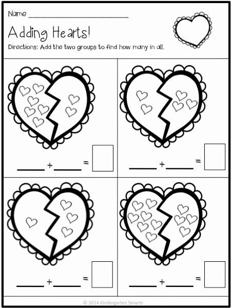 Valentine Day Math Worksheets for Preschoolers Beautiful Valentine S Day Math and Literacy Centers with Printable